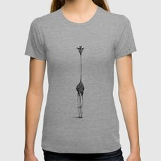 Giraffe Tri-Grey Womens Fitted Tee MEDIUM