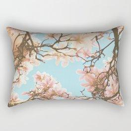 Pink Magnolia Rectangular Pillow