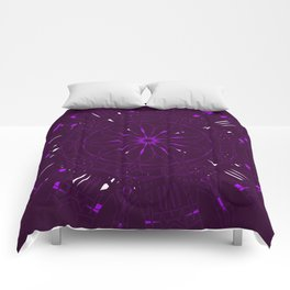 Psychadelic Space Mandala - Blackberry Comforters