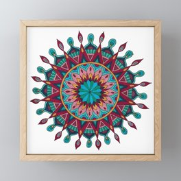 Heart and Soul Mandala Framed Mini Art Print