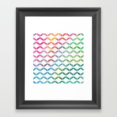 Rainbow Geometric Framed Art Print