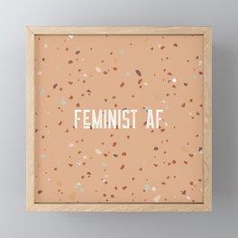 Feminist AF - Gold Framed Mini Art Print