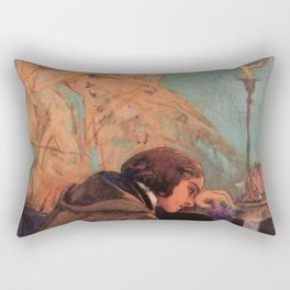 Delacroix - George Sand et Frédéric Chopin Rectangular Pillow