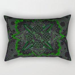 Divine Intention 5: Solar Green Rectangular Pillow