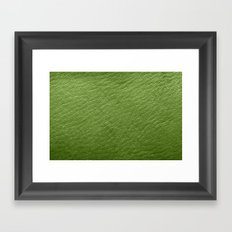 Leather Texture (Green) Framed Art Print