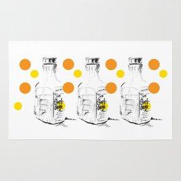 Triple Orange Juice Illustration Rug