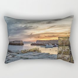 Lobster Trap sunset at lanes cove Rectangular Pillow
