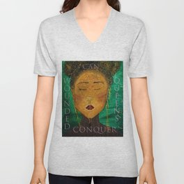 Wounded Queens Conquer Unisex V-Neck