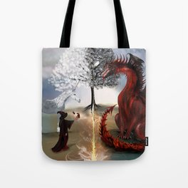 The Owl,Wizard,Unicorn and the Dragon Tote Bag