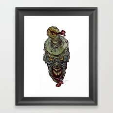 Heads of the Living Dead  Zombies: Zit Zombie Framed Art Print