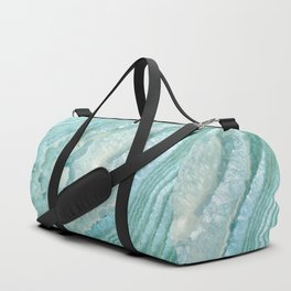 """Aquamarine Pastel and Teal Agate Crystal"" Duffle Bag"