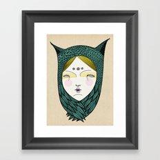 The owl girl Framed Art Print