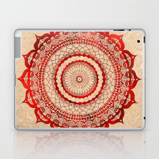 omulyána red gallery mandala Laptop & iPad Skin