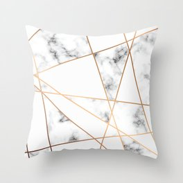 Marble Geometry 054 Throw Pillow
