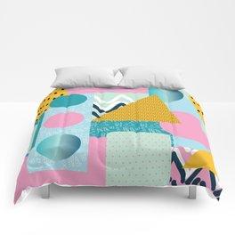 Collage Fun Retro Popping Art Remix Pattern Comforters