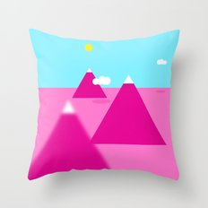 Pink landscape Throw Pillow