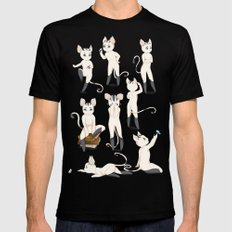 Thorodrin cat Mens Fitted Tee Black MEDIUM
