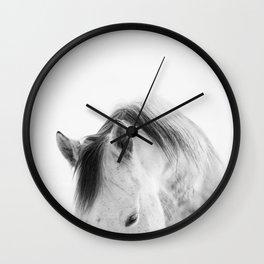 Modern Photography White Horse Wall Clock