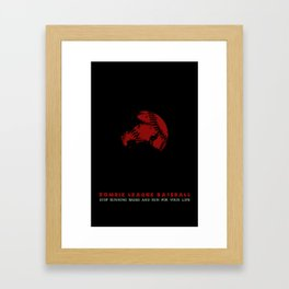 ZLB Baseball Framed Art Print
