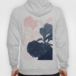 Blush Blue Fiddle Leaf Dream #1 #tropical #decor #art #society6 Hoody
