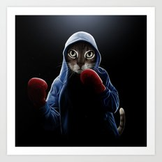 Boxing Cool Cat Art Print