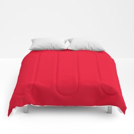 Juicy Red Apple - Solid Color - Mix and Match Comforters