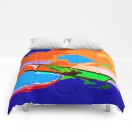 Biplane Aerobatics Comforters