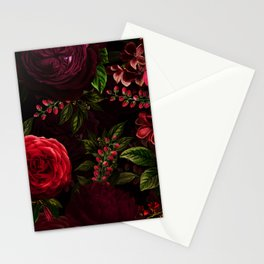 Mystical Night Roses Stationery Cards
