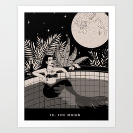 18. THE MOON Art Print