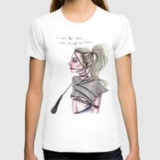 Perfect Illusion White Womens Fitted Tee MEDIUM