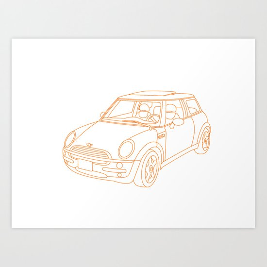 My Mini Cooper Art Print