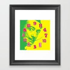 Salvador Dali Dial Clock Face Pop Art Framed Art Print