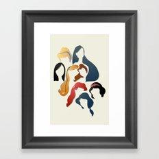 Royal Hair Framed Art Print
