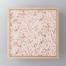 Elegant ivory rose gold abstract marble Framed Mini Art Print