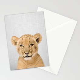 Baby Lion - Colorful Stationery Cards