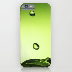 Green water drops Slim Case iPhone 6s