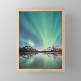 Northern Lights in Norway Framed Mini Art Print