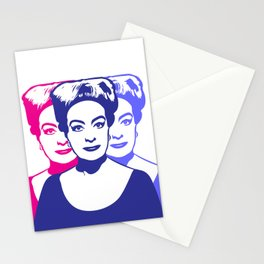 Triple Joan Crawford | Pop Art Stationery Cards