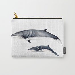 Minke whale with baby whale Carry-All Pouch