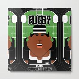 Rugby Black - Maul Propknockon - Aretha version Metal Print