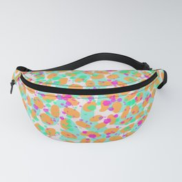 Abstract Leopard - Pink / Orange / Green Fanny Pack