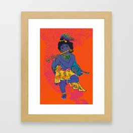 Colorful Gopala Framed Art Print