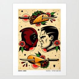 Comics Tattoo Flash Art Print