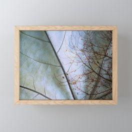 Tree reflection on its leaf Framed Mini Art Print