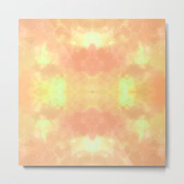 A09 - Abstract Orange Symmertrical Pattern Metal Print
