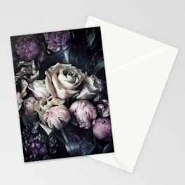 Roses and peonies vintage style Stationery Cards