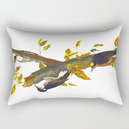 Three-toed Woodpecker Rectangular Pillow