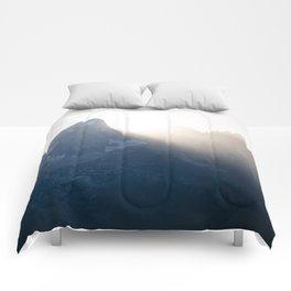 grand teton mountains sunset Comforters