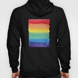 LGBT Flag, Gay Pride, Gay Rainbow, Rainbow, LGBT Rainbow, Watercolor, Watercolor Painting, Hoody