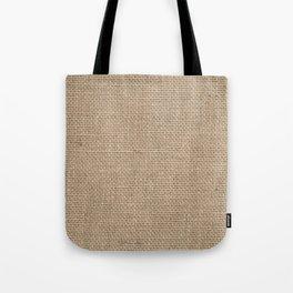 Burlap Texture Tote Bag